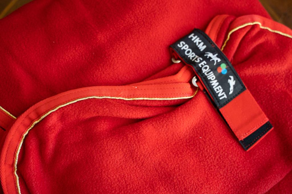 Abschwitzdecke in rot von HKM